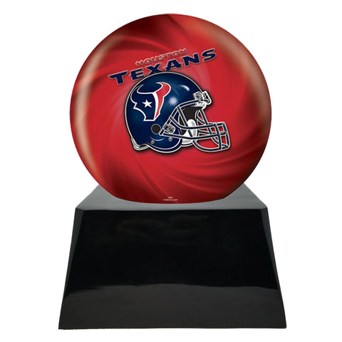 Football Cremation Urns For Human Ashes - Football Cremation Urn and Houston Texans Ball Decor with Custom Metal Plaque
