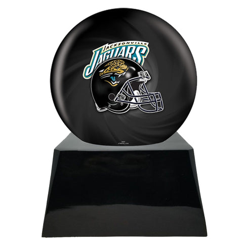 Football Cremation Urn with Optional Jacksonville Jaguars Ball Decor and Custom Metal Plaque
