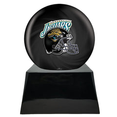 Football Cremation Urns For Human Ashes - Football Cremation Urn and Jacksonville Jaguars Ball Decor with Custom Metal Plaque