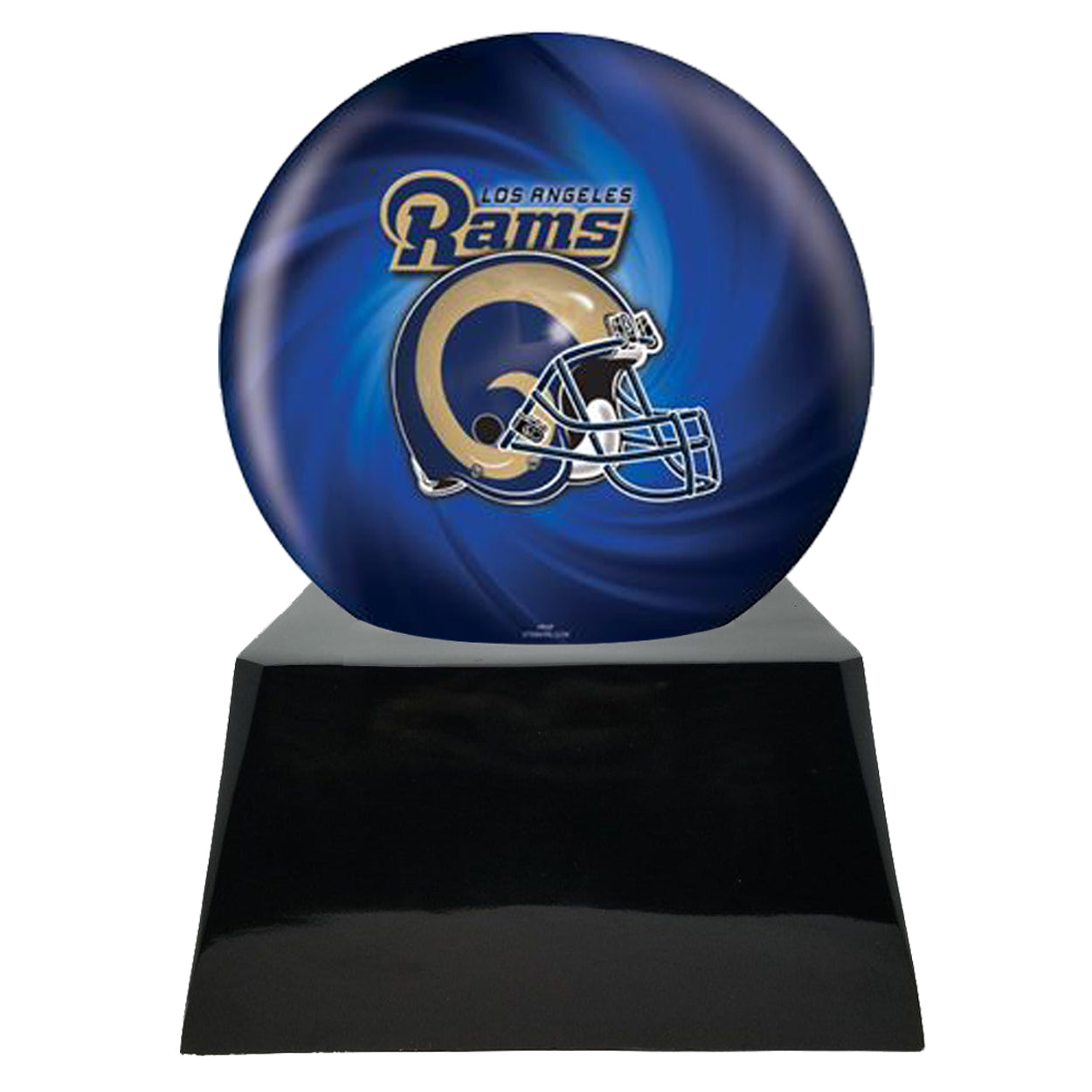 Football Cremation Urns For Human Ashes - Football Cremation Urn and Los Angeles Rams Ball Decor with Custom Metal Plaque