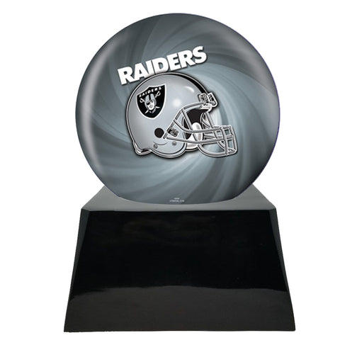 Football Cremation Urn with Optional Oakland Raiders Ball Decor and Custom Metal Plaque