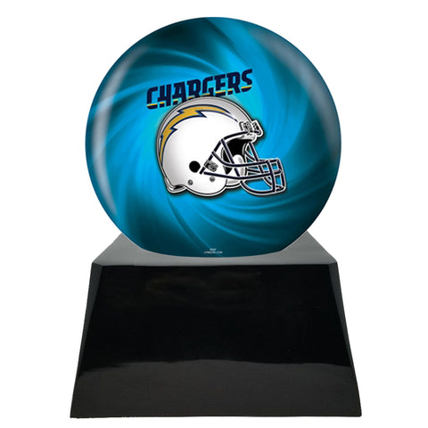 Football Cremation Urn and San Deigo Chargers Ball Decor with Custom Metal Plaque