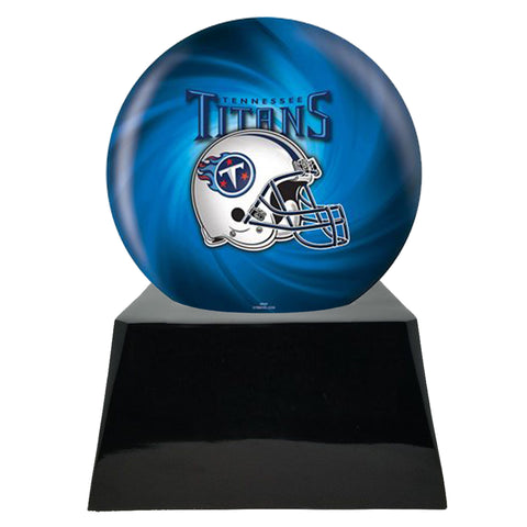 Football Cremation Urn with Optional Tennessee Titans Ball Decor and Custom Metal Plaque