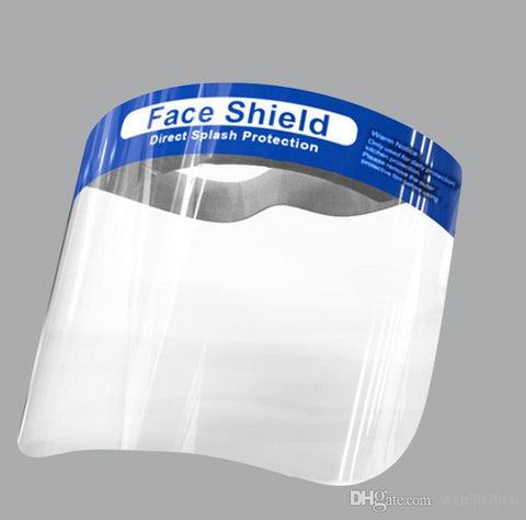 Face Shield-6 Pack, Full Face with Clear Film Elastic Band and Comfort Sponge Protective Face Shield, Reusable Transparent Safety Breathable Visor Anti Saliva Disposable Full Face Shield