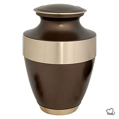 Golden Band Brass Cremation Urn, Brass Urns - Memorials4u