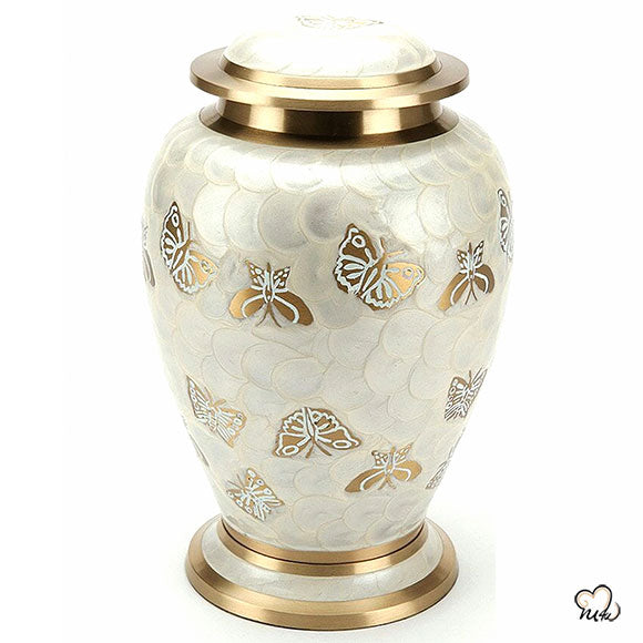 Golden Butterfly Adult Cremation Urn