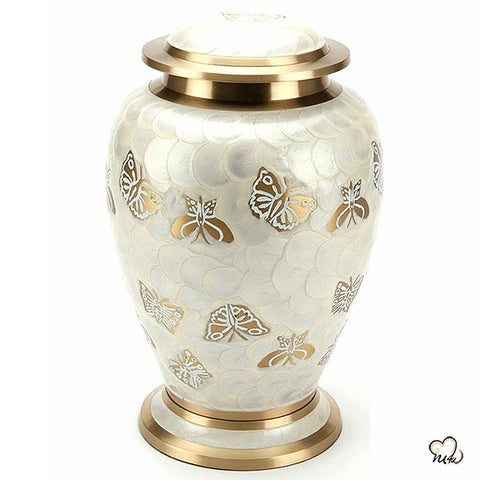Golden Butterfly Urn for Ashes