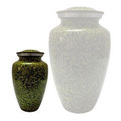 Chartreuse Alloy Cremation Urn