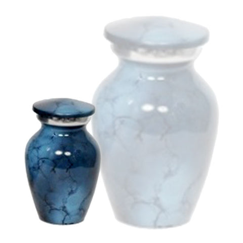 Classic Denim Alloy Cremation Urn - Large