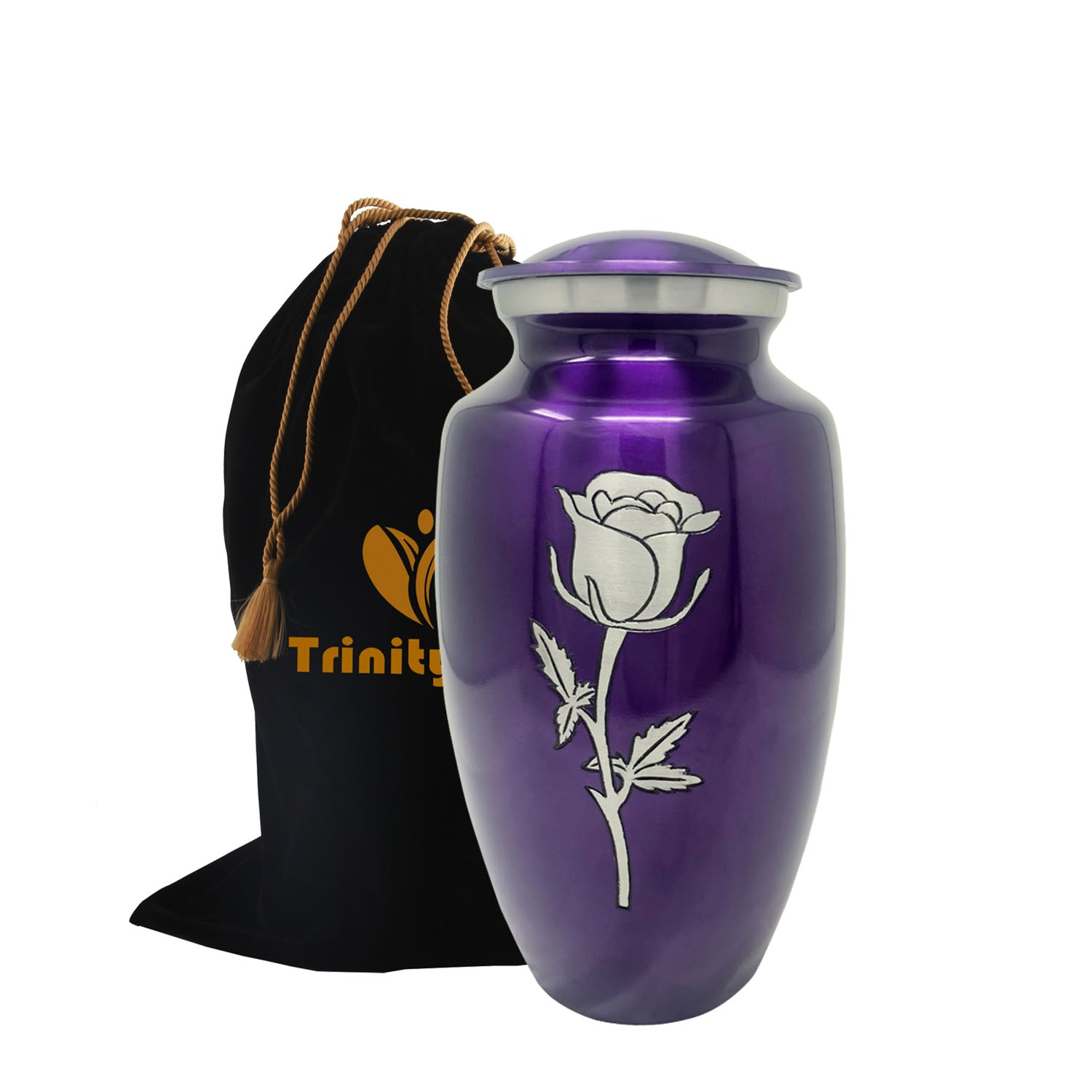 Eternal Rose Alloy Cremation Urn data-image-id=