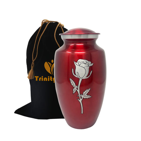 Eternal Rose Alloy Cremation Urn