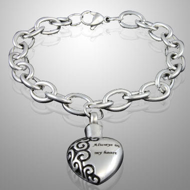 My Heart - Stainless Steel Cremation Keepsake Bracelets Jewelery