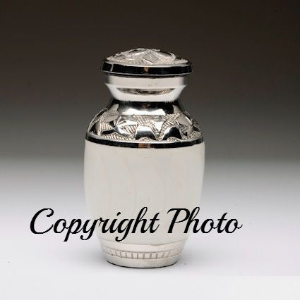 Elegant White Keepsake Urn