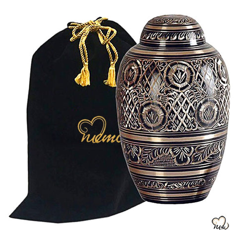 Golden Aura Royal Brass Cremation Urn
