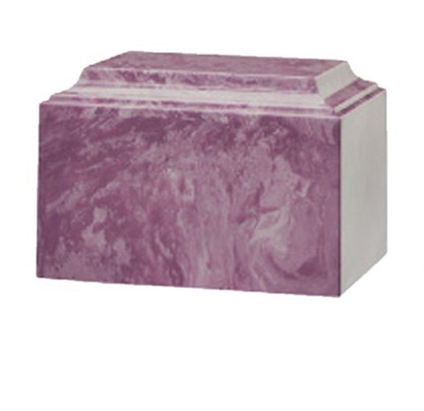 Purple Cultured Marble Urn