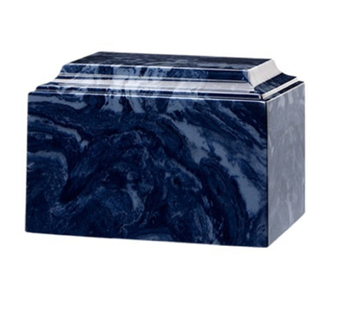 Midnight Blue Cultured Marble Urn