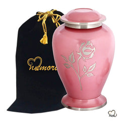 Pearl Rose Pink Cremation Urn