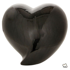Infinity Eternal Heart Cremation Urn - Black