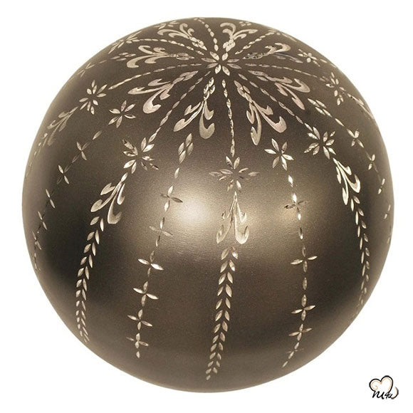 Fancy Diamond Cut Sphere of Life Adult Cremation Urn