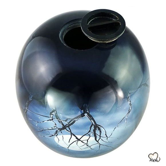 Midnight Moon Sphere of Life Adult Cremation Urn