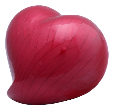 Eternal Heart Cremation Urn - Red
