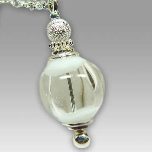 Angel Wings Glass Cremation Pendant