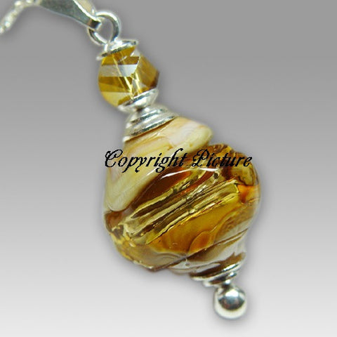 Glory Rock Artistic Glass Cremation Pendant