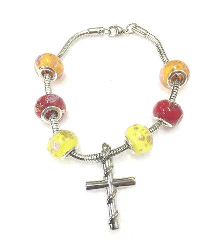 """Stylish Summer"" murano bead cremation Bracelet"