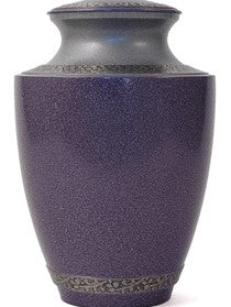 Granite Purple Brass Cremation Urn