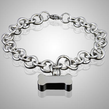 Bone Stainless Steel Cremation Keepsake Bracelet