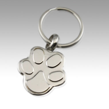 Paw Stainless Steel Keepsake Cremation Keychain