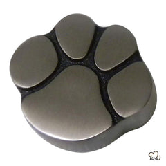Pet Paw Keepsake Cremation Urn for Ashes in Pewter