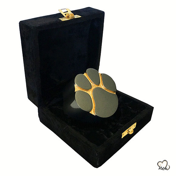 Pet Keepsake Urn - Paw Print Pet Urn - Custom Urn for Pet Ashes in Slate With Box -  Memorials4u