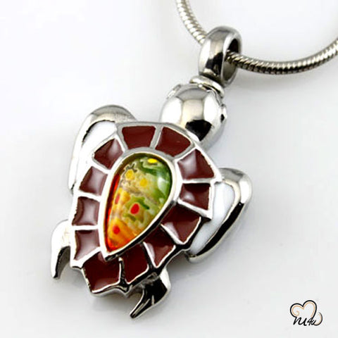 Mock Turtle Cremation Jewelry Pendant