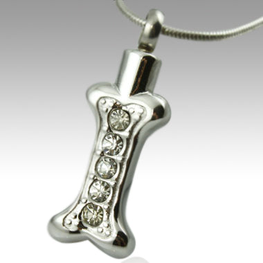 Bone Stainless Steel Keepsake Pendant Cremation Jewelry