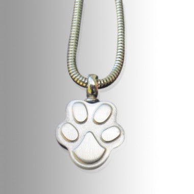 Paw Stainless Steel Cremation Keepsake Pendant