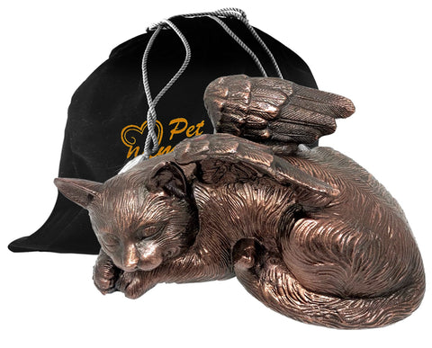 Angel Cat Pet Cremation Urn For Ashes