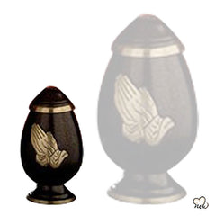 Praying Hands Religious Brass Cremation Urn, Religious Urn - Memorials4u