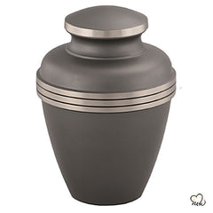 Ashen Brass Cremation Urn - Slate & Pewter