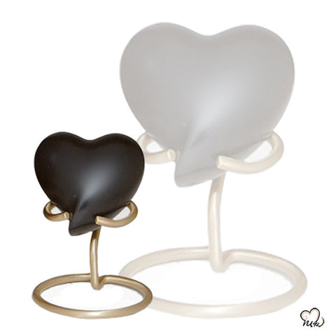 Elegant Black Heart Memorial Finest Brass Keepsake