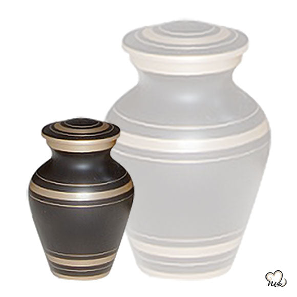 Elegant Black Keepsake Urn