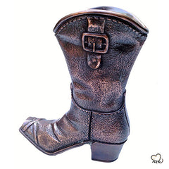 Cowboy Boot Sculpture Cremation Urn