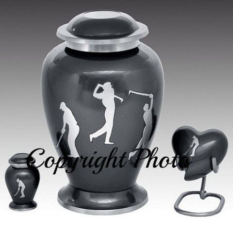 Cremation urns: Golf Sports Cremation Urn for Human Ashes