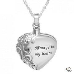 Always in My Heart Cremation Pendant