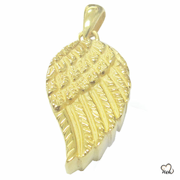 Wing of Angel Cremation Jewelry - Gold Plated