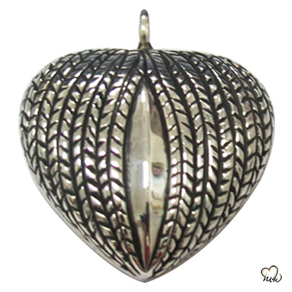 My Heart Silver Keepsake Cremation Jewelry For Ashes data-image-id=