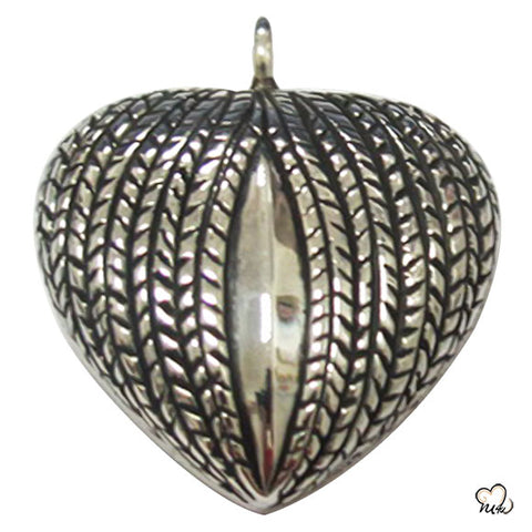 My Heart Silver Keepsake Cremation Jewelry For Ashes