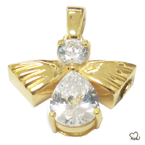 Angel of High Cremation Jewelry - Gold Plated