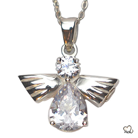 Silver Angel OF High Jewelry, Cremation Pendant - Memorials4u