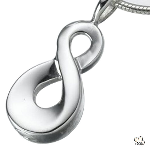 Infinity Keepsake Silver Cremation Jewelry For Ashes